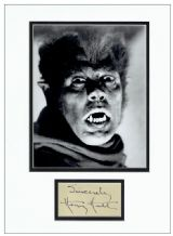 Henry Hull Autograph Signed Display - Werewolf of London